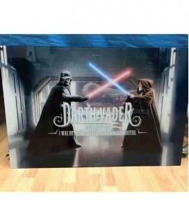 Vader When I Left You póster de vídrio Star Wars 90x60 cm