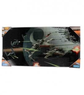 Caza Tie vs Ala X póster de vídrio Star Wars 60x30 cm