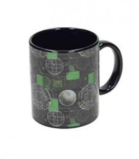 Death Star taza negra cerámica Star Wars Rogue One