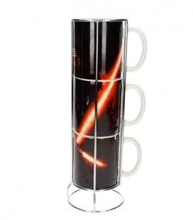 Kylo sable set 3 tazas apilables cerámica Star Wars ep7
