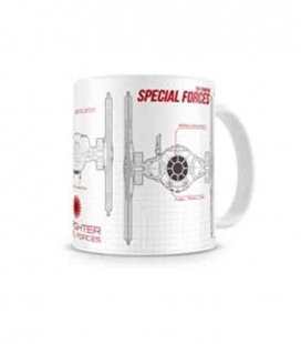 Special Forces Blueprint taza blanca-roja cerámica Star Wars ep7