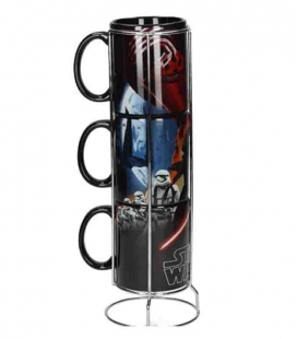 Black First Order set 3 tazas apilables cerámica Star Wars ep7