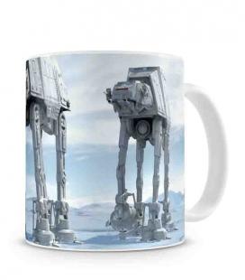 Batalla de Hoth taza cerámica blanca Star Wars