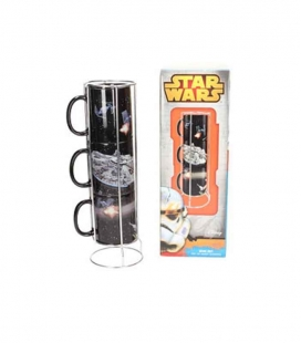Batalla Estrella-Halcón set 3 tazas apilables cerámica Star Wars