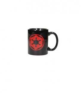 Símbolo imperio y logo taza negra cerámica Star Wars