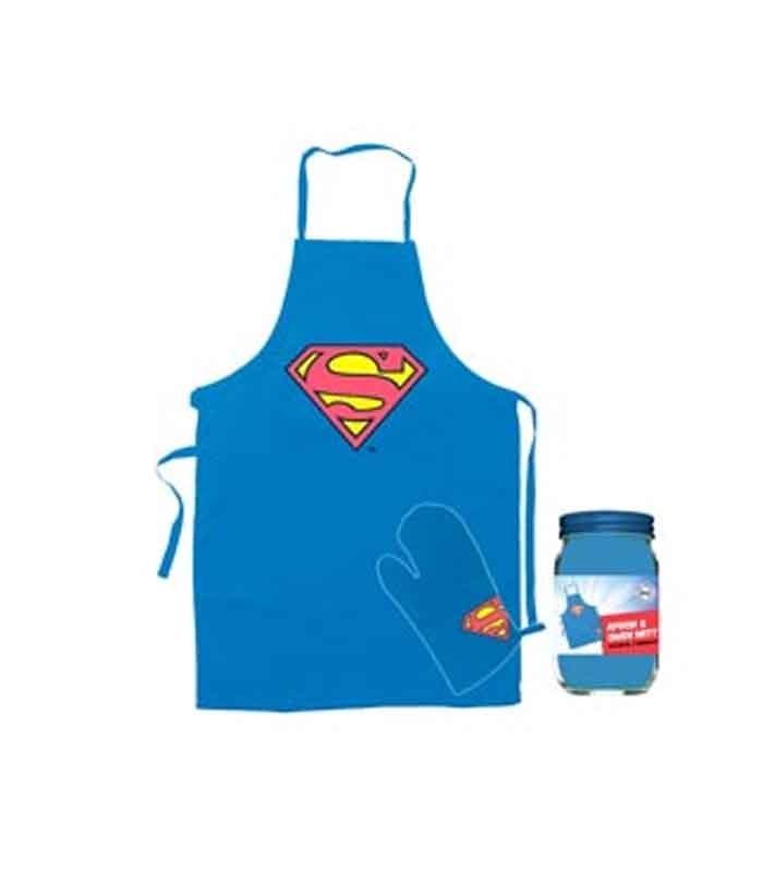 Superman delantal y manopla DC