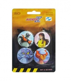 Mazinger Z set A de 4 pins