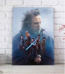 Grupo Resistencia póster de vidrio 30x40 Star Wars EP VIII