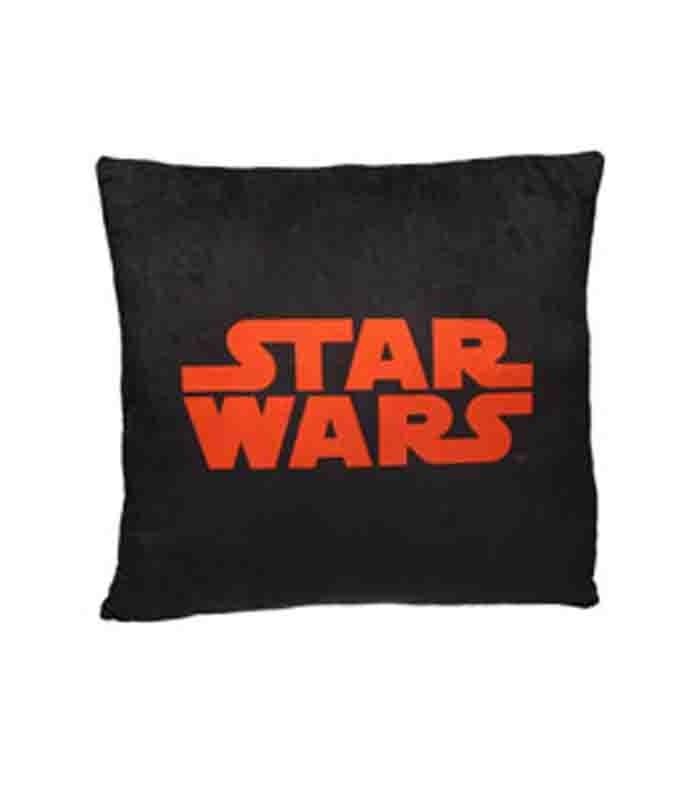 Logo Star Wars naranja cojín cuadrado Star Wars