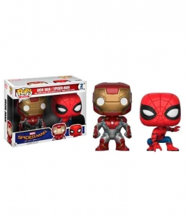 Funko POP! Pack 2 figuras Iron Man & Spiderman Exclusive - Spiderman Homecoming