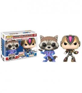Funko POP! Rocket vs MegaMan X Exclusive - Marvel VS Capcom