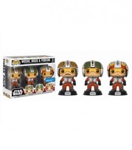 Funko POP! Pack de 3 figuras Pilots Wedge, Biggs & Porkins - Star Wars