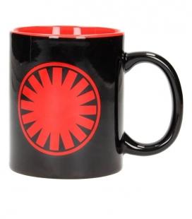 First Order Símbolo taza negra roja cerámica Star Wars EP7