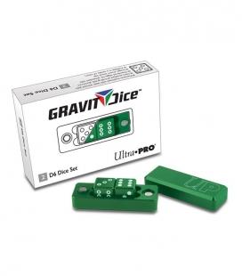 Dados de 6 caras Gravity Dice Ultra Pro verde esmeralda