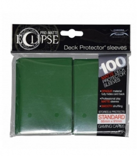 Fundas Ultra Pro Eclipse Pro Matte Standard 66x91 mm Color Verde - Paquete de 100
