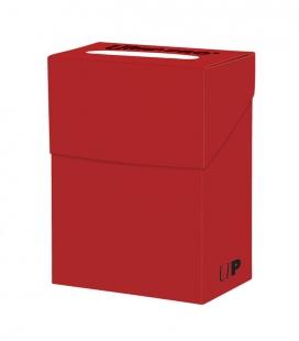 Caja de mazo para cartas New Solid Deck Box Ultra Pro. Para 85 cartas. Color Rojo