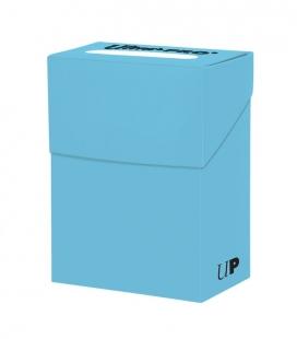 Caja de mazo para cartas New Solid Deck Box Ultra Pro. Para 85 cartas. Color Azul Claro