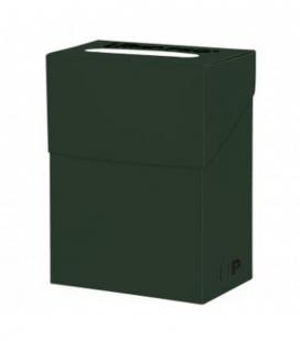 Caja de mazo para cartas New Solid Deck Box Ultra Pro. Para 85 cartas. Color Verde