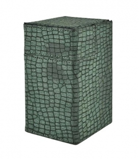 Caja de mazo Deck Box M2 Limited Edition Lizard Skin Ultra Pro. Color Verde