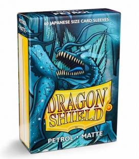 Fundas Small Dragon Shield Matte Petrol - Paquete de 60