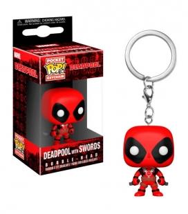 Funko Keychain de Deadpool with swords. Llavero