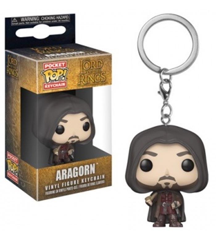 Funko Keychain de El Señor de los Anillos Aragorn El Señor de los Anillos. Llavero