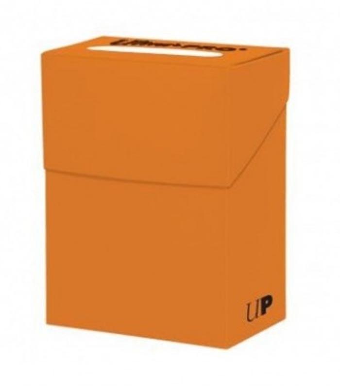 Caja de mazo para cartas New Solid Deck Box Ultra Pro. Para 85 cartas. Color Pumpkin Orange