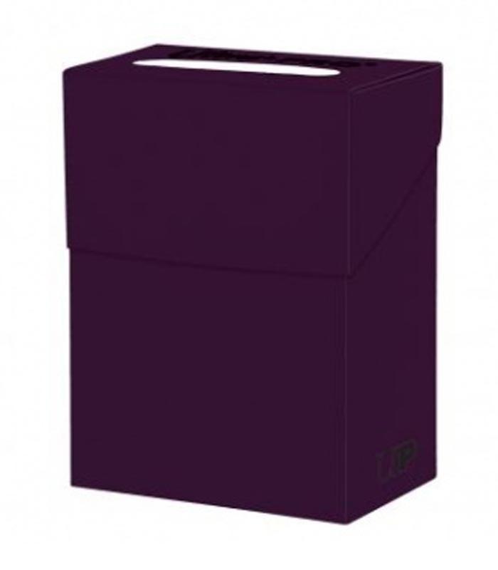 Caja de mazo para cartas New Solid Deck Box Ultra Pro. Para 85 cartas. Color Plum