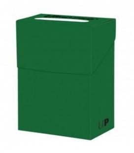 Caja de mazo para cartas New Solid Deck Box Ultra Pro. Para 85 cartas. Color Lime Green