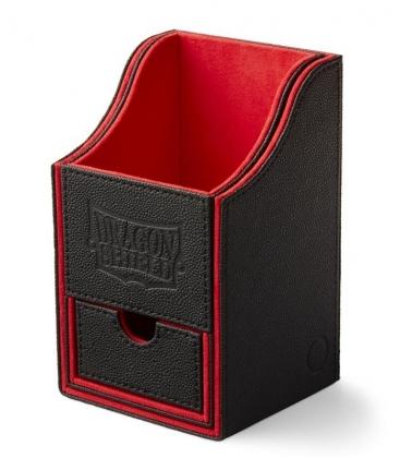 Caja de mazo Nest Box Dragon Shield Doble - Color Negro/Rojo