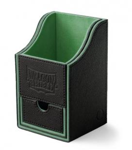 Caja de mazo Nest Box Dragon Shield Doble - Color Negro/Verde