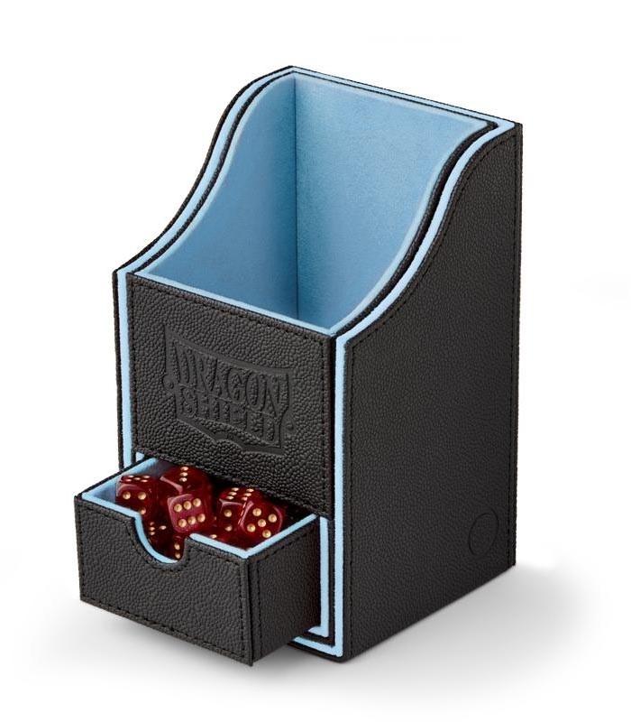 Caja de mazo Nest Box Dragon Shield Doble - Color Negro/Azul