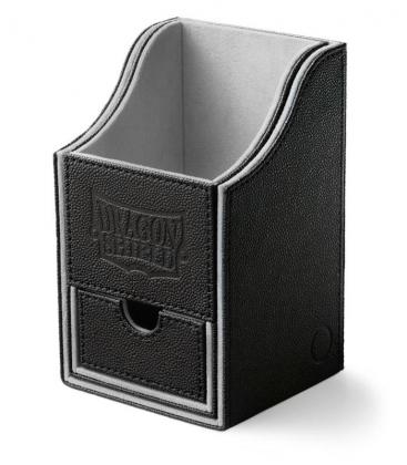 Caja de mazo Nest Box Dragon Shield Doble - Color Negro/Blanco