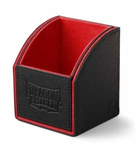 Caja de mazo Nest Box Dragon Shield Simple - Color Negro/Rojo