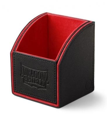 Caja de mazo Nest Box Dragon Shield Simple - Color Negro/Rojo