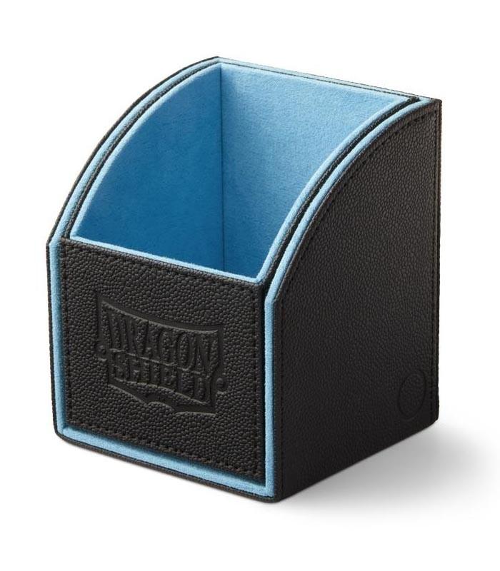 Caja de mazo Nest Box Dragon Shield Simple - Color Negro/Azul