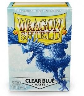 Fundas Standard Dragon Shield Matte Color Clear Blue - Paquete de 100