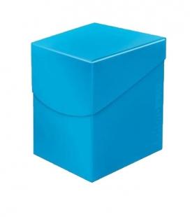 Caja de mazo para cartas Eclipse 100 Ultra Pro. Para 100 cartas. Color Sky Blue