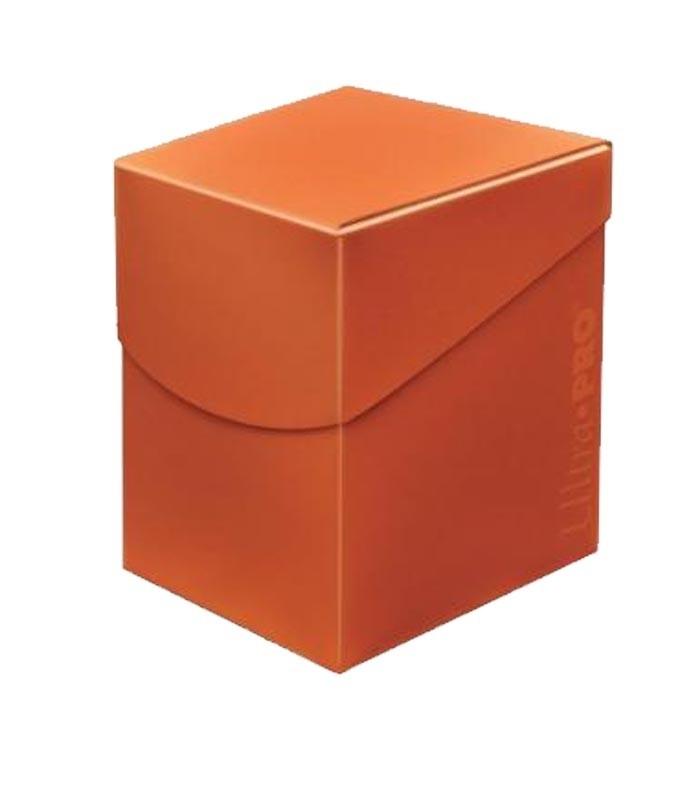 Caja de mazo para cartas Eclipse 100 Ultra Pro. Para 100 cartas. Color Pumpkin Orange