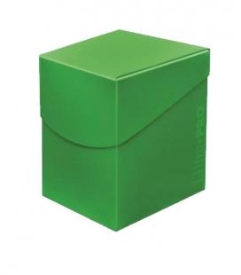 Caja de mazo para cartas Eclipse 100 Ultra Pro. Para 100 cartas. Color Lime Green