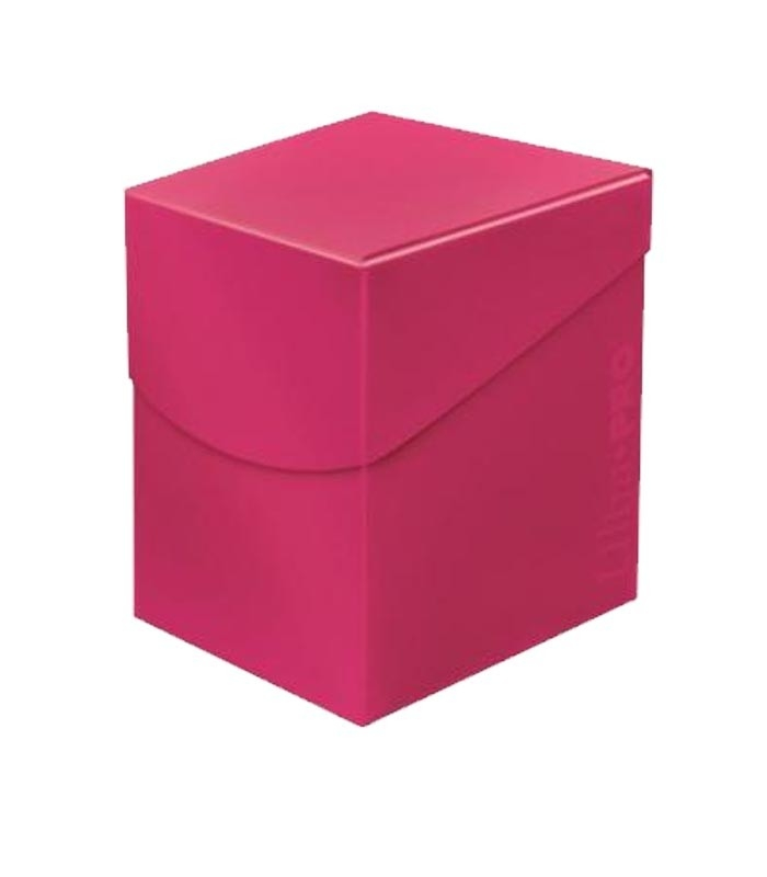 Caja de mazo para cartas Eclipse 100 Ultra Pro. Para 100 cartas. Color Hot Pink