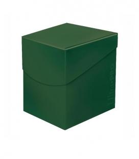 Caja de mazo para cartas Eclipse 100 Ultra Pro. Para 100 cartas. Color Forest Green