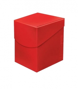 Caja de mazo para cartas Eclipse 100 Ultra Pro. Para 100 cartas. Color Apple Red