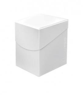 Caja de mazo para cartas Eclipse 100 Ultra Pro. Para 100 cartas. Color Artic White