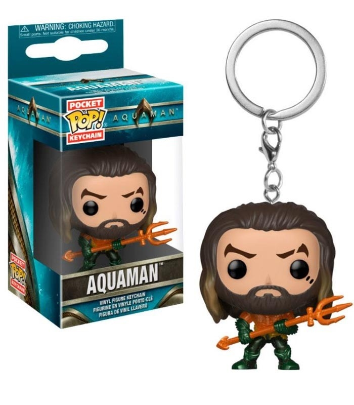 Funko Keychain de Aquaman Arthur Curry in Hero Suit Aquaman. Llavero