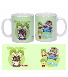 Dr Slump Arale y Gatchans Taza cerámica Dr Slump