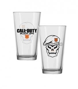 Vaso Call of Duty: Black Ops 4 Pint Glass Skull- Gaya
