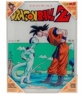 Dragon Ball Z Goku vs Freezer Póster de vidrio Dragon Ball 30x40 cm
