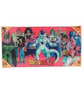 Dragon Ball Z Villanos Póster de vidrio Dragon Ball 60x30 cm
