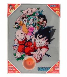 Dragon Ball Personajes Póster de vidrio Dragon Ball 30x40 cm